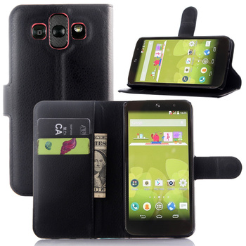 Hot Sell Cover For LG AKA/ LG Joy H220 Wallet Style Flip Phone Bag With Stand + Card Slots Holders