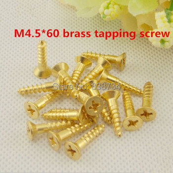 50pcs pure brass flat head phillip cross countersunk frame screw m4.5*60 self tapping furniture screw